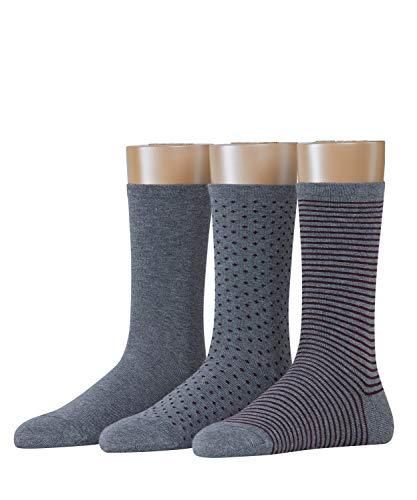 ESPRIT Backstripe 3-Pack Damen Socken marengo (3391) 36-41 mit verschiedenen Designs
