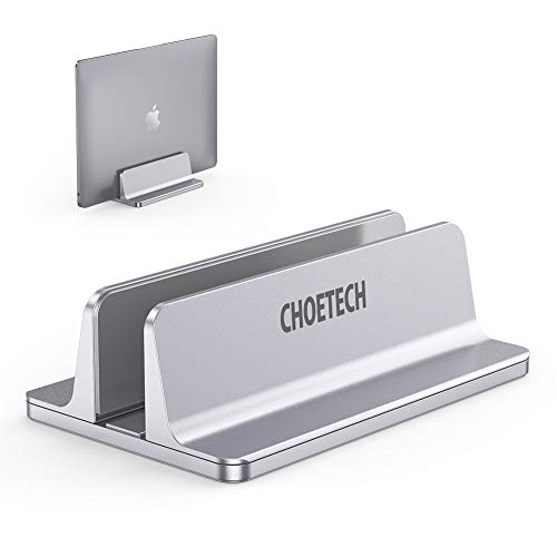 CHOETECH Soporte Tablet Soporte Vertical para Computadora Portátil Aleación de Aluminio Ajustable de MacBook Air, MacBook Pro, Surface de Microsoft, Chromebook
