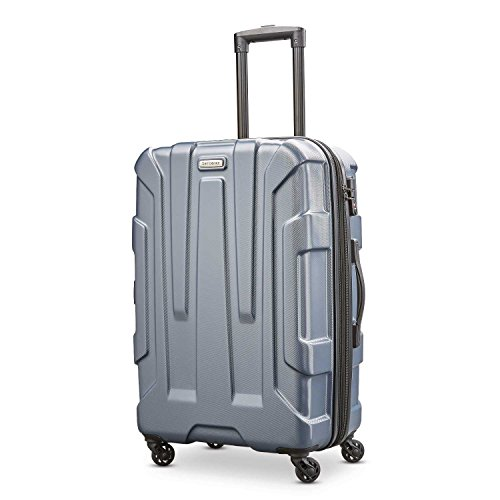Samsonite Centric Hardside Expandable Luggage with Spinner Wheels, Blue Slate, Checked-Medium 24-Inch
