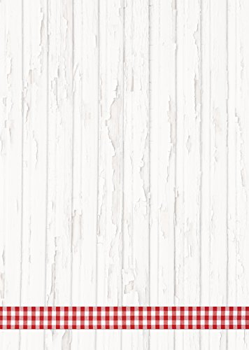 50 vellen briefpapier printpapier rood wit gekarakterd band lijst hout-look rustiek 100 g schrijfpapier motief-papier DIN A4 briefblad Beierse Beierse Beieren landhuisstijl