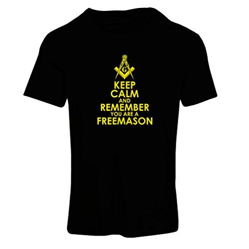 Frauen T-Shirt Denken Sie daran, DASS Sie EIN Freimaurer sind - Masonic Winkel und Zirkel (X-Large Schwarz Gelb)