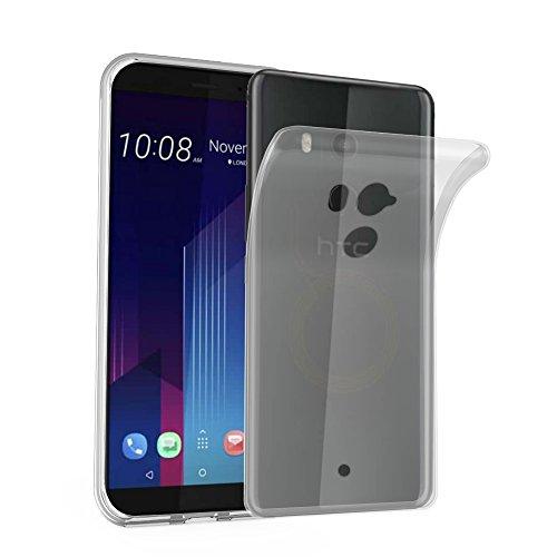 Cadorabo Coque pour HTC U11 Plus en Complet Transparent - Housse Protection Souple en Silicone TPU avec Anti-Choc et Anti-Rayures - Ultra Slim Fin Gel Case Cover Bumper