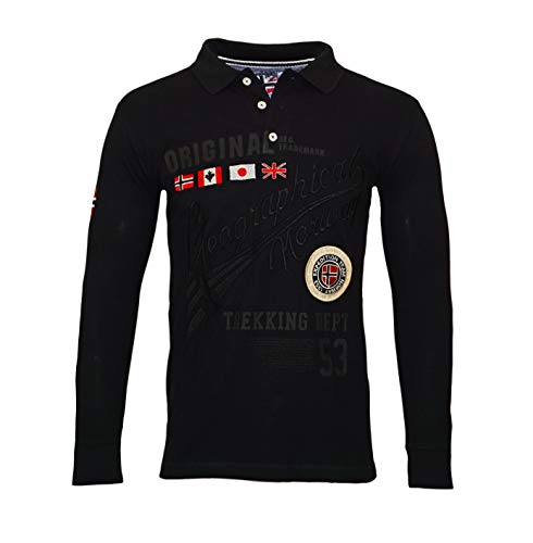 Geographical Norway Polo a maniche lunghe KOLIDAY Black (L)