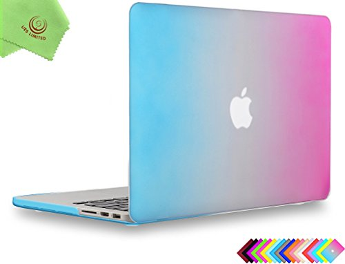 UESWILL Smooth Matte Hard Case Cover Compatible with (Mid 2012-Mid 2015) MacBook Pro 15 inch with Retina Display (No Touch Bar, No CD-ROM) (Model: A1398), Rainbow