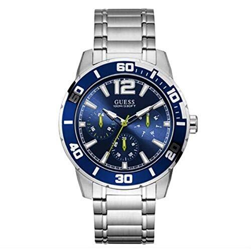 Guess Trek U1249G2 - Reloj de pulsera para hombre (acero inoxidable, 46 mm)