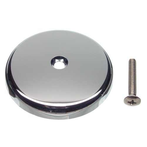 Danco Single Tub Drain Overflow Plate | One Hole | Screw Included, Chrome (89052)