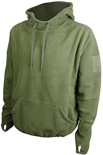 Savage Island Mens Tactical Combat Fleece Recon Hoodie, Green, XL