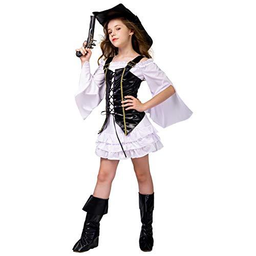 SEA HARE Mädchen Cool Piraten Kostüm (S :4-6 Jahre)