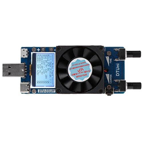 Preisvergleich Produktbild Qiman QC 2, 0 3, 0 Löst 35 Watt Konstante Strom Dual Einstellbare USB Elektronische Last Daten Kabel Batterie Entladung Tester Voltmeter