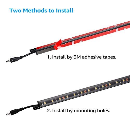 TORCHSTAR LED Safe Lighting Kit, (6) 12'' Linkable Light Bars + Rocker Switch + UL Power Adapter, Under Cabinet Lighting, Gun Safe, Locker, Closet, Shelf, Showcase Lighting, 5000K Daylight