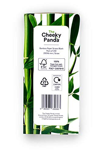 The Cheeky Panda – Bamboo Multicoloured Paper Straws | Pack of 100 Straws | 100% Biodegradable, Plastic-Free, Eco…