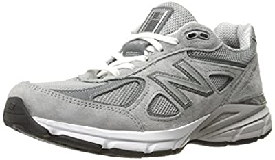 New Balance Women's Made 990 V4 Sneaker, Grey/Castlerock, 5 W US