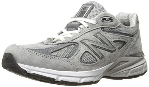 New Balance Women's Made 990 V4 Sneaker, Grey/Castlerock, 13 W US