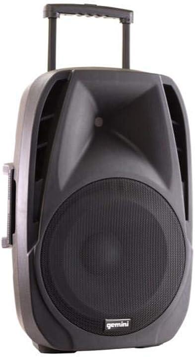 Gemini es-15 togo - diffusore amplificato bluetooth con trolley + microfoni ES-15TOGO