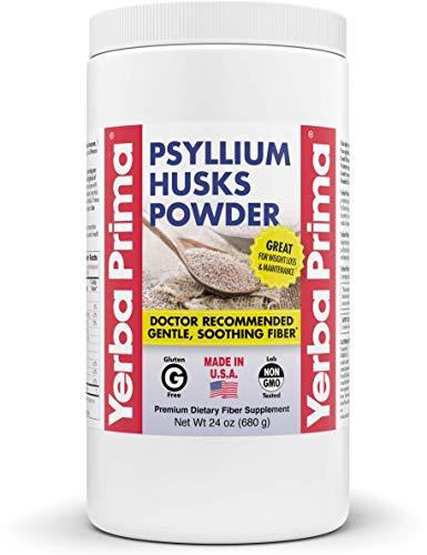 Yerba Prima Psyllium Husk Powder - 24 oz - Fine Ground, Unflavored Fiber Supplement (Packaging May Vary - New Label Coming Soon)