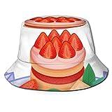 Gorras Pastel de Colores Dulce Hermoso Postre Delicioso Sombrero de Pescador Sombrero de Pescador, Sombrero de Pesca Tela Suave de algodón y poliéster Gorra Ancha para el Sol Unisex