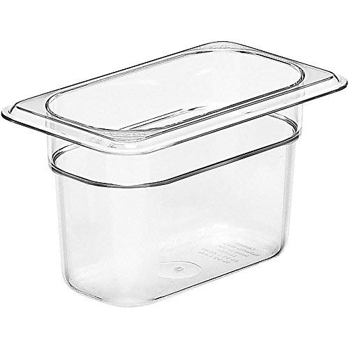 """Cambro 94CW135 Camwear Food Pan plastic 1/9-size 4""""D clear - Case of 6"""