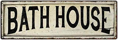 Bath House Sign Cheap Farmhouse Decor Si Country Cheap mail order shopping Look Wood Decorations