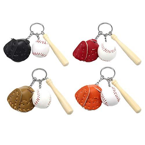 Ukerdo Kreativ Mini Baseball Schlüsselbund Handtasche Tasche Anhänger Charme Baseball Ventilator Lieferungen Sport Souvenirs