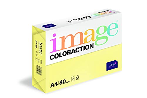 Image Coloraction - farbiges Kopierpapier Florida/zitronengelb 80g/m² A4 - Paket zu 500 Blatt