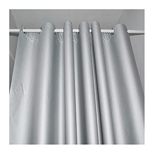 GDMING 100 % mörkläggningsgardiner, svart och silver reflekterande vattentät sommar isoleringsduk för hem vardagsrum sovrum öljetter topp, 17 storlekar (färg: Silver, storlek: 1,4 x 3 m)