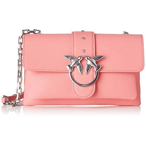 Pinko Love Mini Soft Simply 1 Cl Pel, Borsa a tracolla Donna, Rosa (AZZURRO CIC. INDIA), 6x12.8x20.8 cm (W x H x L)