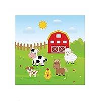 紙コップ使い捨てカップCute Pasture Cow Theme Party Paper Plate Cup Flag Napkin Balloon Thankgiving Birthday Wedding Party Decor Supplies-Napkin_10Pcs