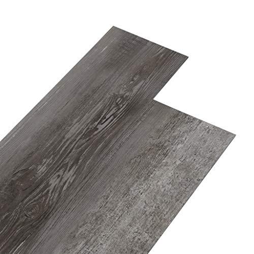 vidaXL Lamas para Suelo Baldosa Azulejo Cocina Salón Antiestático Ignífugo Impermeable Antideslizante de PVC Color Madera a Rayas 5,26 m² 2 mm