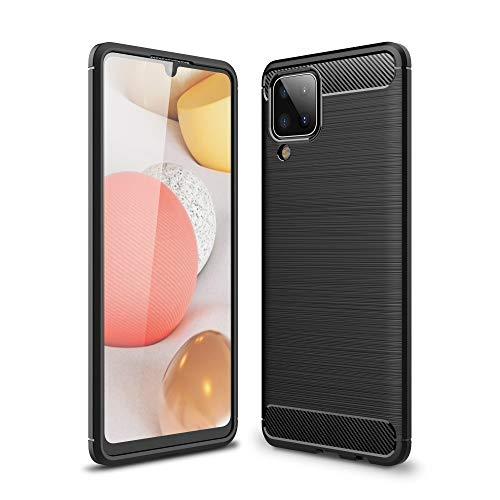 CoverKingz Funda de silicona para Samsung Galaxy A12, color negro