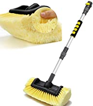 Anyyion 51-Inch Car Wash Brush with 12-Inch Soft Bristle, On/Off Switch for Car Truck Boat Washing Brush, Perfect for Cleaning House Siding, Auto Cars, Trucks, SUV, RV, Floors and More!