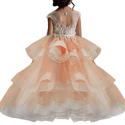 WYH Mooie Dans Rok Prinses Rok Puffy Meisje Catwalk Jurk Kleine Host Piano Prestatie Kostuum Kostuum Bloem Meisje Rok Mode