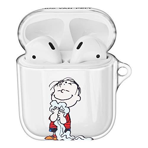 Peanuts Linus Van Pelt ピーナッツ ライナス ヴァン ペルト AirPods と互換性があります ケース 透明 エアーポッズ用ケース 硬い スリム ハード カバー (ハッピー ライナス) [並行輸入品]