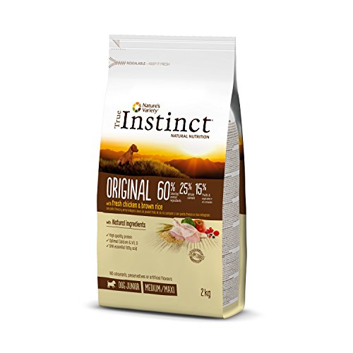 True Instinct Original Medium-Maxi Junior - Pienso para cachorros de razas medianas y grandes con pollo y arroz integral - 2 kg