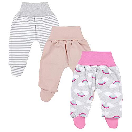 TupTam Baby Mädchen Strampelhose mit Fuß 3er Pack, Farbe: Farbenmix 5, Größe: 80