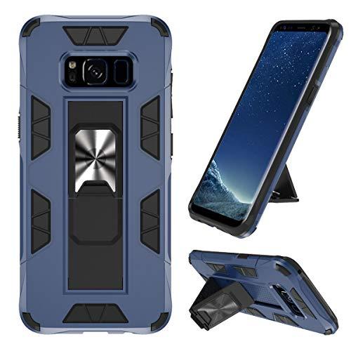 KUAWEI S8 Hülle Samsung Galaxy S8 Ständer eingebautem Case Cover, Doppelte Schutzschicht Handyhülle Extrem Fallschutz Schutzhülle für Samsung Galaxy S8 (Blau)