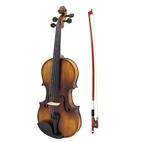 Violín 16 pulgadas eléctrico Viola EQ abeto madera Mapel puente ébano baraja...