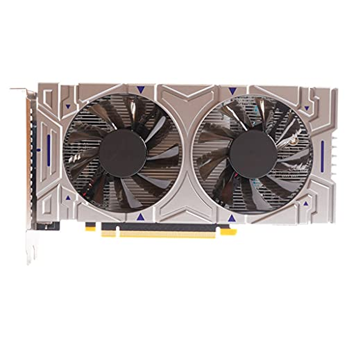 Valcano Tarjeta gráfica para videojuegos para NVIDIA GTX 550Ti 4 GB GDDR5 128 Bit PCIE 2.0 compatible con HDMI/VGA/DVI con 2 ventiladores