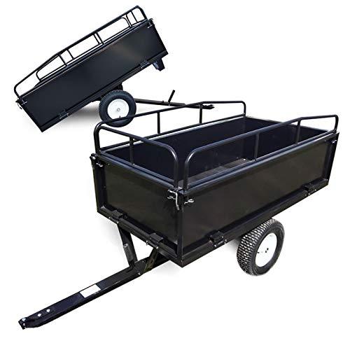Kippanhänger 200x78x94,5cm mit Gitter und abnehmbaren Seitenwänden universelle Anhängerverbindung