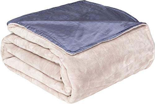 Active Corner Cozy Mill 60x80 Weighted Blanket Duvet Cover Made from Premium Soft Minky and Bamboo for Year Round Comfort | Machine Washable for Easy Maintenance (Cream)