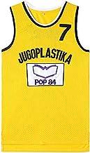 JAG Maillot de Baloncesto Kukoc Jugoplastika 7# para Hombre, versión cinematográfica de Uniformes de Baloncesto, Camiseta sin Mangas Unisex, Ropa Deportiva de Baloncesto de la NBA NCAA Swingman