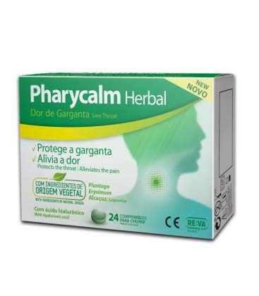 Reva-Health Pharycalm Herbal Dolor de Garganta 24 Comprimidos - 1 unidad