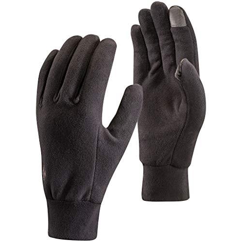 Black Diamond Gants LightWeight Polaire - Gants tactiles et légers en micro-polaire respirante - utilisables comme sous-gants / Unisexe, noir, taille XL