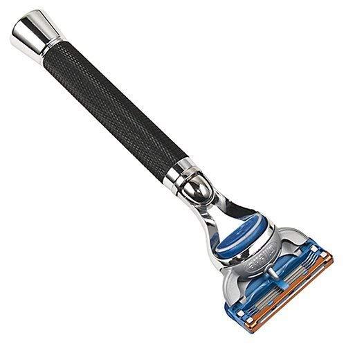 Parker Safety Razor, 5-Klinge Schwarz-Griff-Rasiermesser, 1 Gillette Fusion Klinge enthalten