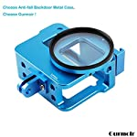 """Gurmoir Case Aluminum Alloy Back Door Housing Frame for Gopro Hero 8 Black Action Camera, Wire connectable Protective… 11 This Aluminum Housing Designed for Gopro Hero 5/Gopro HERO (2018) Action Camera, Blue Make Your Gopro More Unique Your Gopro camera will be more safety during high-velocity sport or daily using. No more worries about the camera will falling out. you can just enjoy your shooting time with 1/4 inch screw hole. the case can compatible with any 1/4"""" tripod. or you can DIY your kit. Sides open allow quick connect of cables. with the Cold Shoe, you can mount a flash, video light, microphone on the top of this case"""