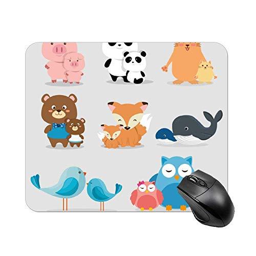 N\A Cute Owl Set Mouse Pad Escritorio Accesorios de computadora Tablero decoración Suministros de Oficina