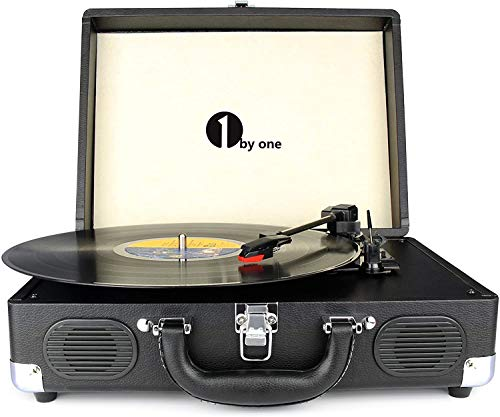 1byone Suit-Case Style Turntable
