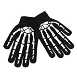 JOYKK Unisex Kinder Vollfinger-Handschuhe Winter Radfahren Halloween Horror Skull Claw Skelett Anti-Rutsch-Gummi-Outdoorhandschuhe Wrist Warmer - Black & White -