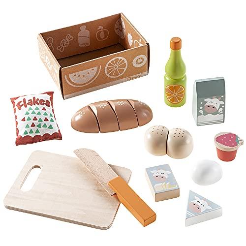 Howa Spiellebensmittel Zubehör Kaufladen Kinderküche Frühstücksset 12 TLG. 4893