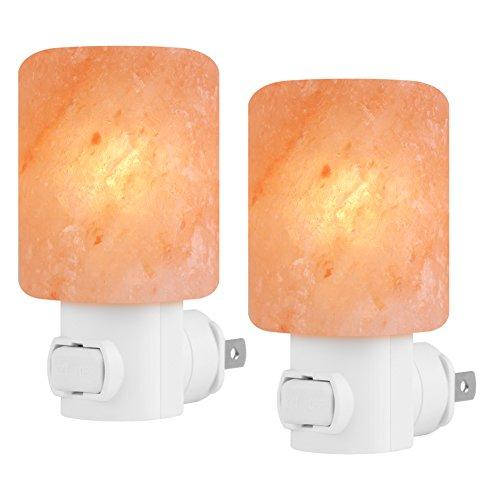 Syntus 2 Pack Himalayan Salt Lamp Natural Crystal Salt Light Glow Hand...