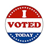 DREAM ART I Voted Today with Red, White, and Blue Circle Stickers 1.5 Inch Round 500 Labels Per Roll